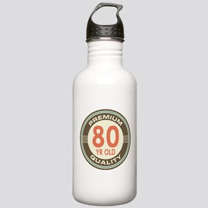 80th Birthday Vintage Stainless Water Bottle 1.0L