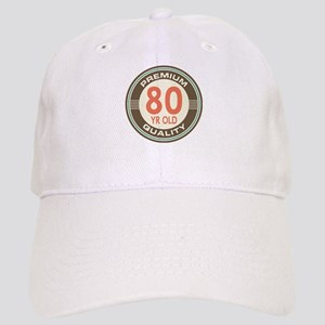 80th Birthday Vintage Cap