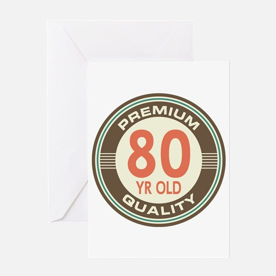 80th Birthday Vintage Greeting Card