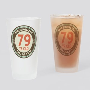 79th Birthday Vintage Drinking Glass