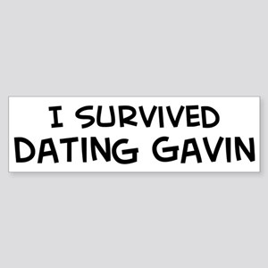 Survived Dating Gavin Bumper Sticker