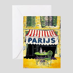 Vintage Paris France Travel Greeting Card