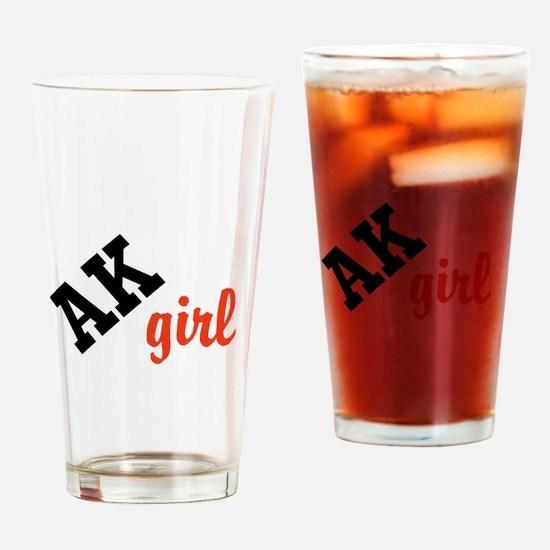 AK girl Drinking Glass