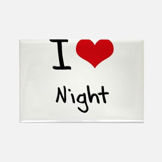 I Love Night Rectangle Magnet