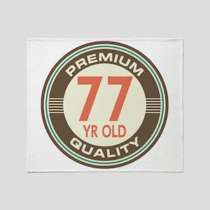 77th Birthday Vintage Throw Blanket