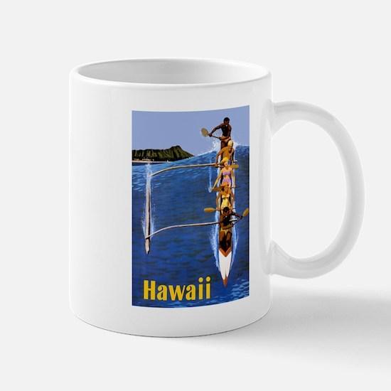 Vintage Hawaii Boat Travel Mug