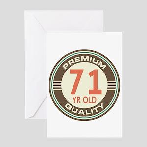 71st Birthday Vintage Greeting Card