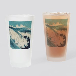 Vintage Waves Japanese Woodcut Ocean Drinking Glas