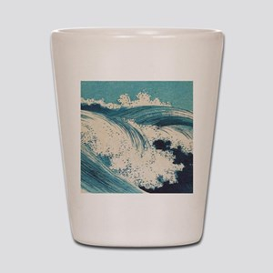 Vintage Waves Japanese Woodcut Ocean Shot Glass