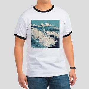 Vintage Waves Japanese Woodcut Ocean T-Shirt