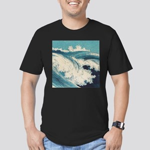 Vintage Waves Japanese Woodcut Ocean T-Shirt
