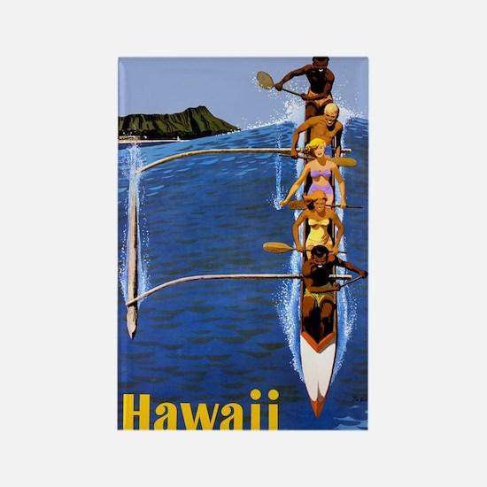 Vintage Hawaii Boat Travel Rectangle Magnet