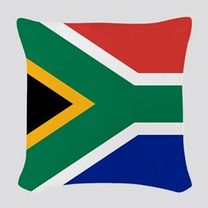 Flag of South Africa Woven Throw Pillow