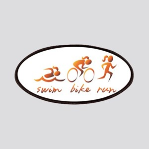 Swim Bike Run (Gold Girl) Patches