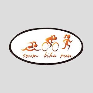 Swim Bike Run (Gold Girl) Patches