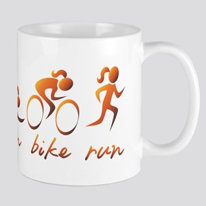 Swim Bike Run (Gold Girl) Mug