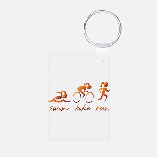 Swim Bike Run (Gold Girl) Keychains