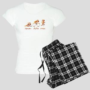 Swim Bike Run (Gold Girl) Women's Light Pajamas