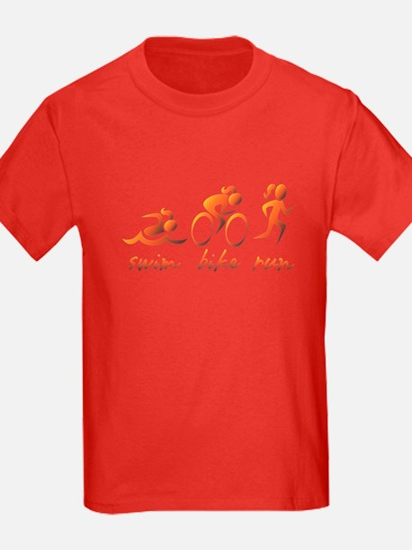 Swim Bike Run (Gold Girl) T
