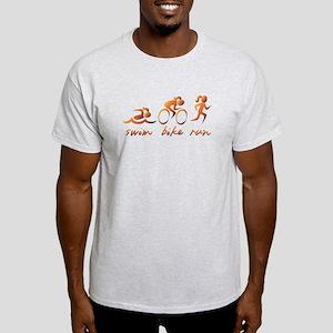 Swim Bike Run (Gold Girl) Light T-Shirt