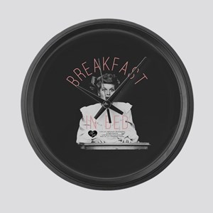Lucy Breakfast In Bed Large Wall Clock
