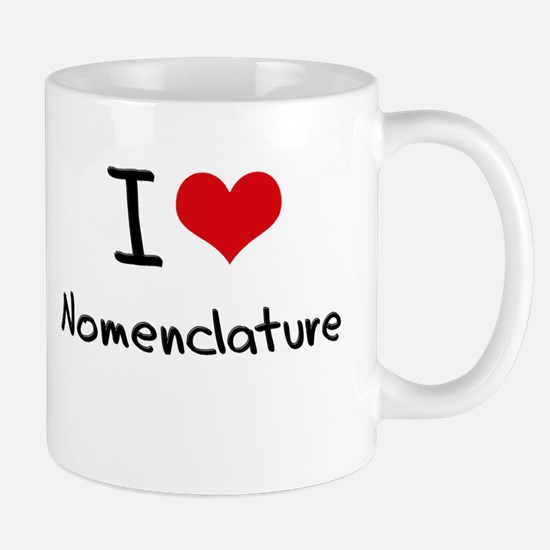 I Love Nomenclature Mug