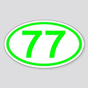 Number 77 Oval Oval Sticker
