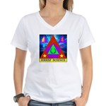 HRHSF Science Badge Women's V-Neck T-Shirt