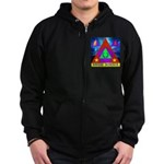 HRHSF Science Badge Zip Hoodie (dark)