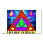 HRHSF Science Badge Sticker (Rectangle 10 pk)