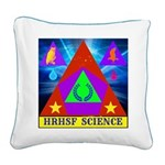 HRHSF Science Badge Square Canvas Pillow
