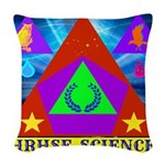 HRHSF Science Badge Woven Throw Pillow