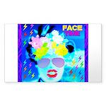 X-Ray Drag Diva SisterFace Sticker (Rectangle)