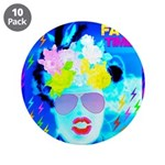 """X-Ray Drag Diva SisterFace 3.5"""" Button (10 pa"""