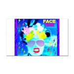 X-Ray Drag Diva SisterFace Rectangle Car Magnet