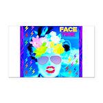 X-Ray Drag Diva SisterFace Rectangle Car Magnet