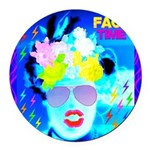 X-Ray Drag Diva SisterFace Round Car Magnet