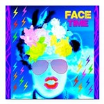 X-Ray Drag Diva SisterFace Square Car Magnet 3&quo