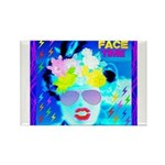 X-Ray Drag Diva SisterFace Rectangle Magnet