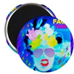 "X-Ray Drag Diva SisterFace 2.25"" Magnet (10 p"