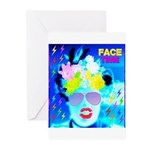 X-Ray Drag Diva SisterFace Greeting Cards (Pk of 2