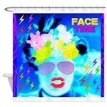 X-Ray Drag Diva SisterFace Shower Curtain