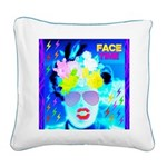 X-Ray Drag Diva SisterFace Square Canvas Pillow