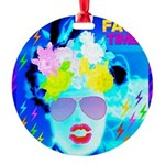 X-Ray Drag Diva SisterFace Round Ornament