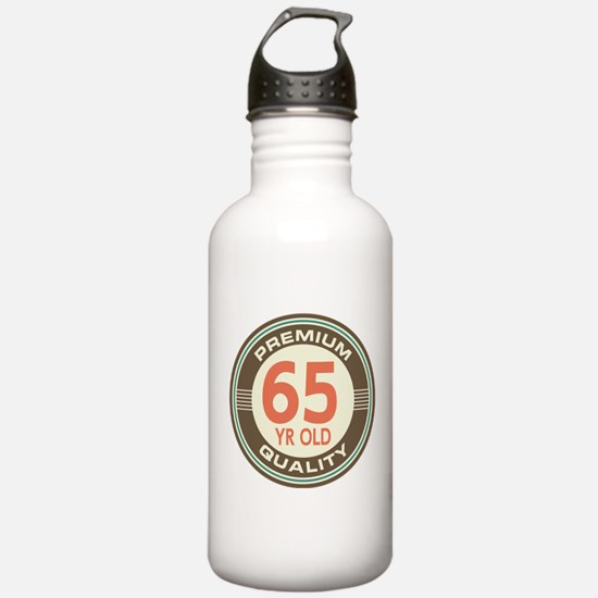 65th Birthday Vintage Water Bottle