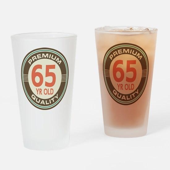 65th Birthday Vintage Drinking Glass