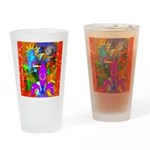 Science Disco Cupid Drinking Glass