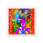 Science Disco Cupid Square Sticker 3