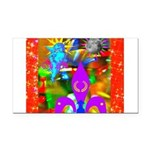 Science Disco Cupid Rectangle Car Magnet