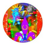 Science Disco Cupid Round Car Magnet